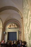 Linea dell'entrata laterale di Montserrat di gente Fotografia Stock