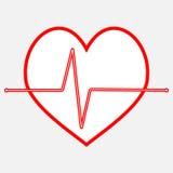 Linea dell'icona di battito cardiaco di impulso Immagine Stock Libera da Diritti