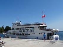 Linea della barca di Gananoque a Kingston Fotografie Stock