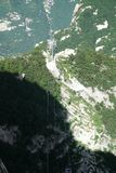 Linea della cabina di funivia di Huashan della montagna Fotografia Stock Libera da Diritti