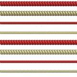 Linea della corda Fotografia Stock