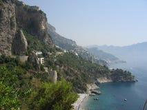 Linea della costa di Amalfi Immagini Stock