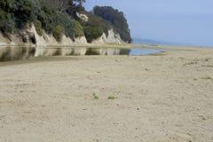 Linea della costa di California del sud con lo strato marino Fotografia Stock