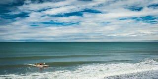 Linea della costa in Nuova Zelanda Fotografia Stock