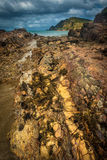 Linea della costa in vento, Nuova Zelanda Fotografie Stock