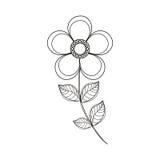 linea della decorazione del fiore della magnolia illustrazione vettoriale