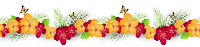 Linea della decorazione dell'ibisco royalty illustrazione gratis