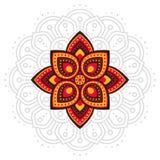 Linea della mandala di Gudi e di Ugadi Padwa Fotografia Stock Libera da Diritti