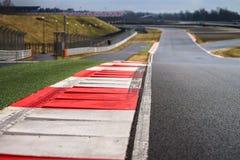 Linea della pista del circuito automobilistico Immagine Stock Libera da Diritti