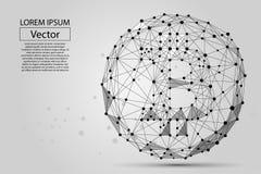 Linea della poltiglia e punto astratti Bitcoin Illustrazione di affari di vettore Immagine Stock Libera da Diritti