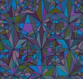 Linea della stella dentro il modello senza cuciture di simmetria illustrazione di stock