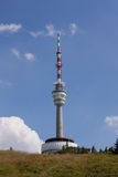 Linea della trasmissione tower immagine stock