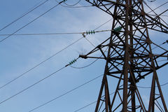 Linea della trasmissione tower Fotografie Stock Libere da Diritti