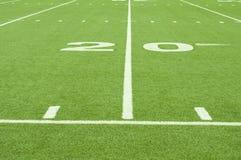Linea delle yard artificiale del tappeto erboso 20 Immagini Stock Libere da Diritti