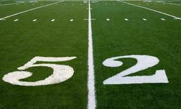 Linea delle yard del campo di football americano 52 Immagine Stock Libera da Diritti