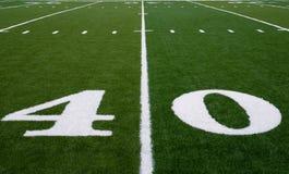 Linea delle yard del campo di football americano 40 Immagini Stock