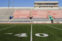 Linea delle yard 40 sul campo di football americano Fotografie Stock Libere da Diritti