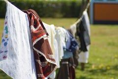 Linea di abbigliamento Immagini Stock