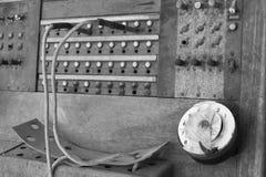 Linea di accesso al centralino privato centrale del telefono di legno Immagini Stock