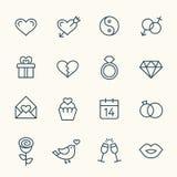 Linea di amore icone Fotografie Stock Libere da Diritti