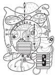 Linea di arte Astrazione Anti-sforzo di coloritura per gli adulti illustrazione vettoriale