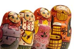 Linea di bambole russe Fotografie Stock