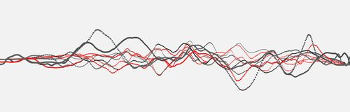 Linea di battito cardiaco cardiogram Impulso del cuore Flusso leggero dinamico rappresentazione 3d illustrazione vettoriale