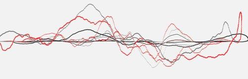 Linea di battito cardiaco cardiogram Impulso del cuore Flusso leggero dinamico rappresentazione 3d royalty illustrazione gratis