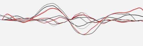 Linea di battito cardiaco cardiogram Impulso del cuore Flusso leggero dinamico rappresentazione 3d illustrazione di stock