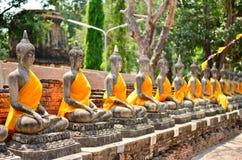 Linea di Buddha Fotografia Stock
