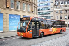 Linea di bus di Sheffield Fotografia Stock Libera da Diritti