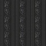 linea di carta scura dell'incrocio del controllo della foglia della vite di spirale della curva di arte 3D royalty illustrazione gratis
