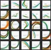 Linea di colore blu ed arancio fondo dell'estratto illustrazione vettoriale