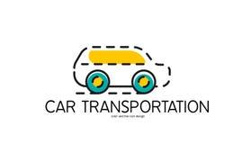 Linea di colore icona per progettazione piana Automobile royalty illustrazione gratis