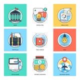 Linea di colore piana icone 37 di vettore di concetti di progetto royalty illustrazione gratis
