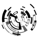 Linea di computer astratta del circuito leggero insegna di affari di tecnologia Per la vostra spazzola fotografia stock libera da diritti