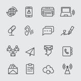 Linea di comunicazione icona Immagini Stock Libere da Diritti