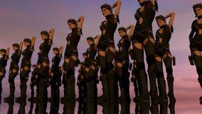Linea di coro sexy di fantasia al tramonto Fotografia Stock Libera da Diritti