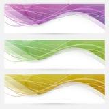 Linea di cristallo astratta intestazione di velocità dell'onda del sito Web illustrazione di stock