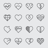 Linea di cuore icona Immagini Stock