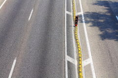 Linea di demarcazione della curva Fotografie Stock