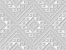 linea di Diamond Spiral Cross Frame Dot del controllo di arte del Libro Bianco 3D Fotografie Stock