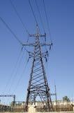 Linea di elettro trasferimento Fotografie Stock Libere da Diritti