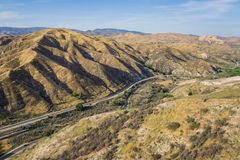 Linea di ferrovia stretta del deserto Fotografia Stock