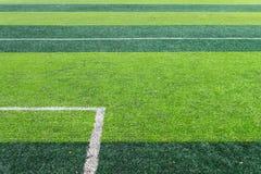 Linea di fondo bianca di campo di football americano Fotografie Stock Libere da Diritti