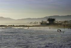 Linea di galleggiamento della spiaggia di Venezia Fotografie Stock Libere da Diritti