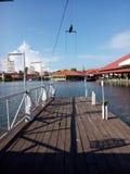 Linea di galleggiamento di legno Immagini Stock