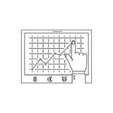 Linea di grafico di crescita icona Fotografie Stock Libere da Diritti