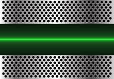 Linea di luce verde astratta tecnologia nel vettore futuristico moderno del fondo di progettazione della maglia del cerchio del m Fotografia Stock Libera da Diritti