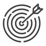Linea di obiettivo icona, affare e bersaglio Fotografie Stock Libere da Diritti
